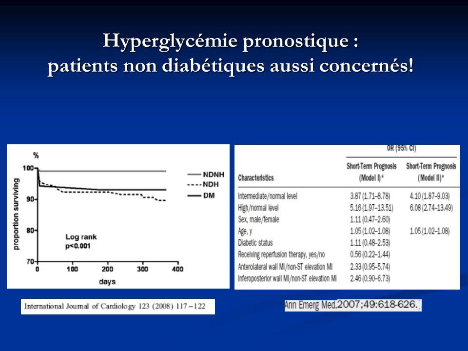 Hyperglycémie pronostique : patients non diabétiques aussi concernés!