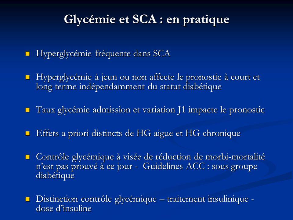 Glycémie et SCA : en pratique