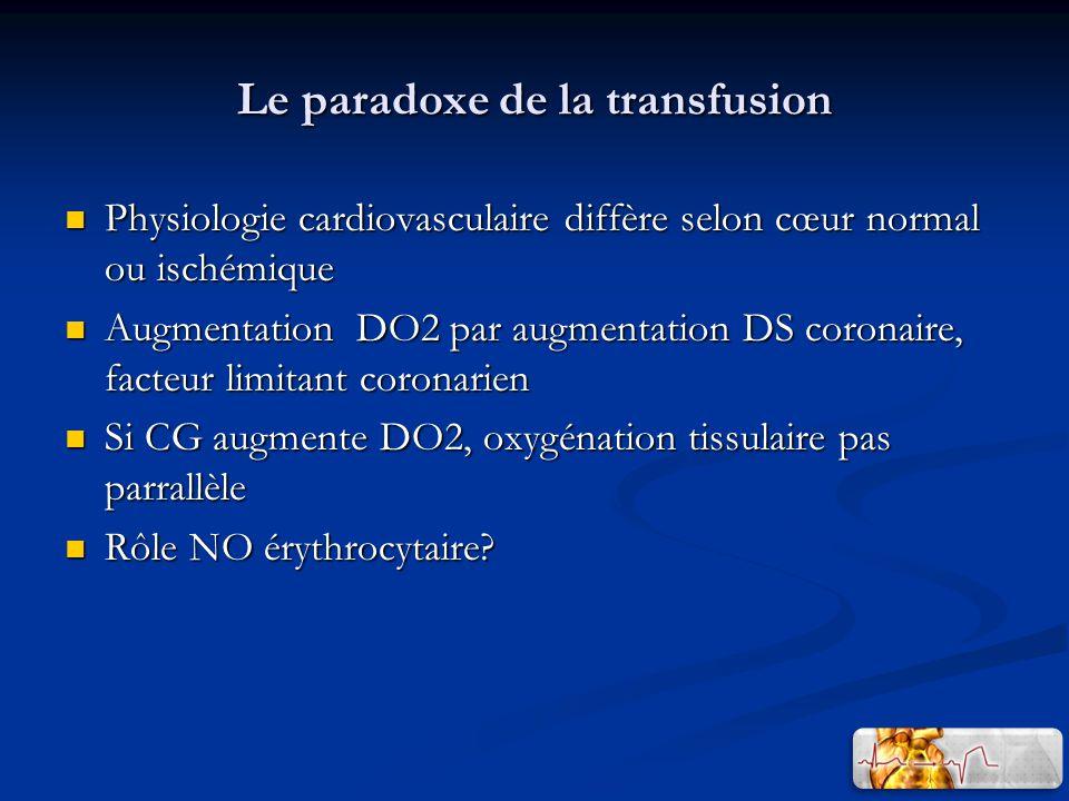 Le paradoxe de la transfusion