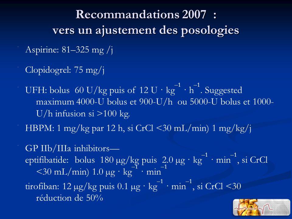 Recommandations 2007 : vers un ajustement des posologies