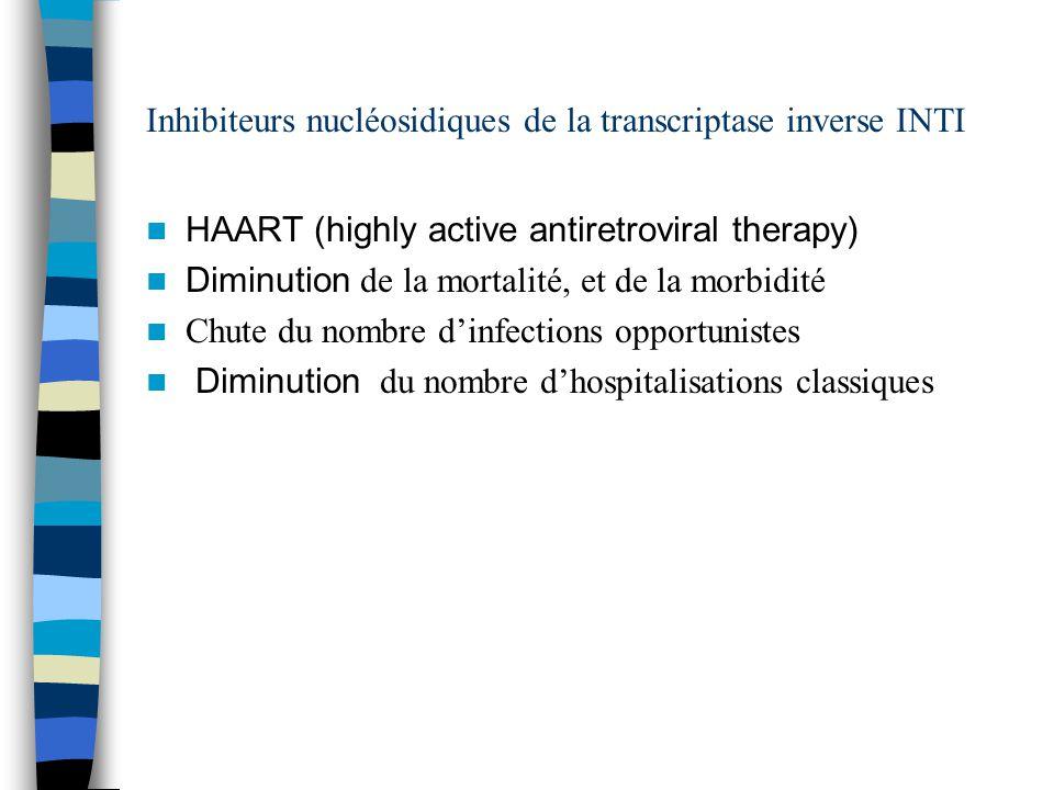 Inhibiteurs nucléosidiques de la transcriptase inverse INTI