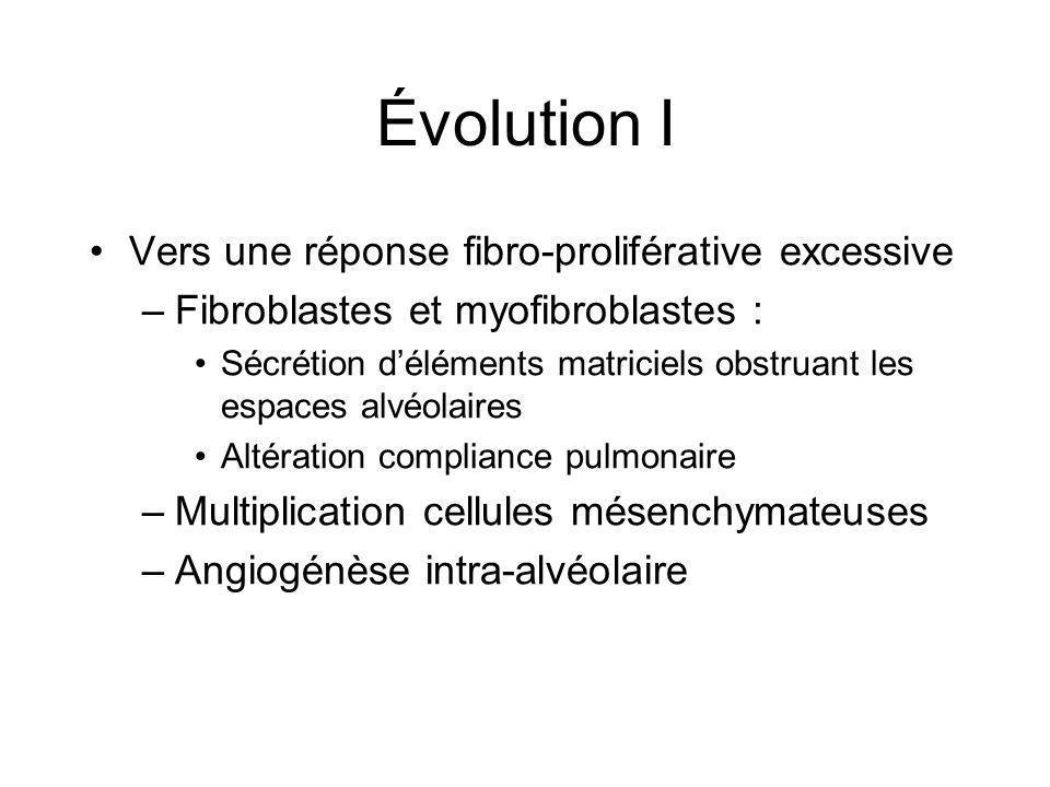 Évolution I Vers une réponse fibro-proliférative excessive
