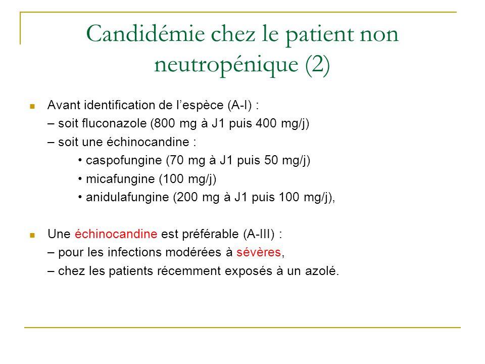 Candidémie chez le patient non neutropénique (2)