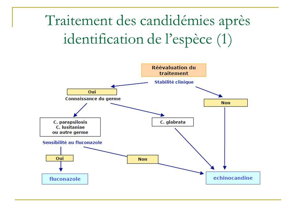 Traitement des candidémies après identification de l'espèce (1)