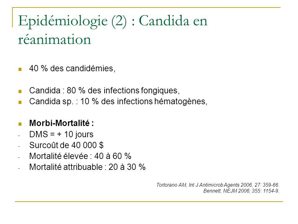 Epidémiologie (2) : Candida en réanimation