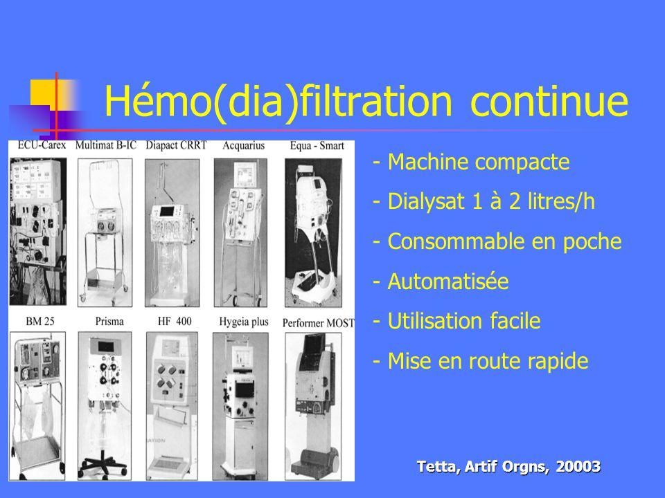Hémo(dia)filtration continue