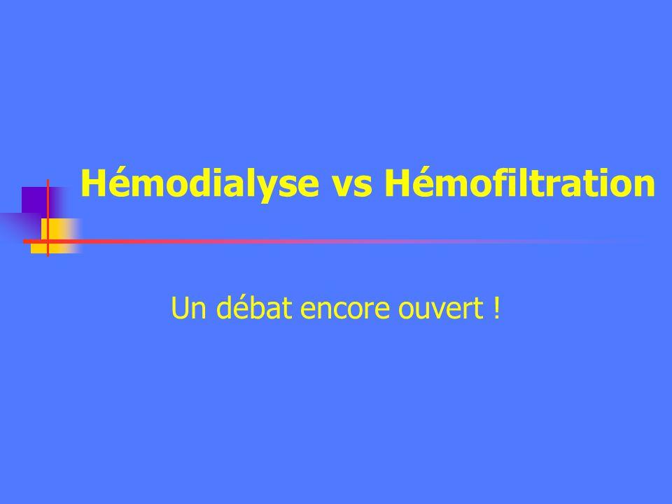 Hémodialyse vs Hémofiltration