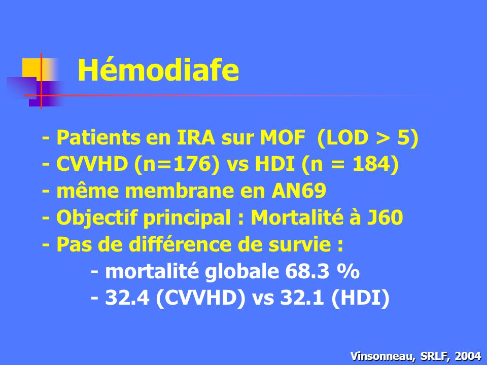 Hémodiafe - Patients en IRA sur MOF (LOD > 5)