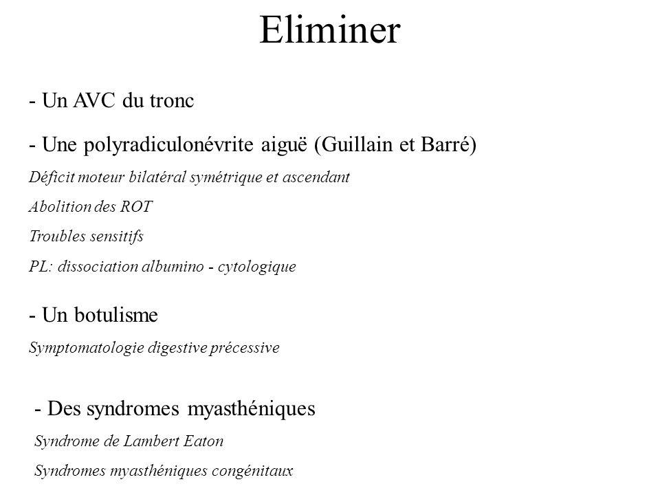 Eliminer - Un AVC du tronc