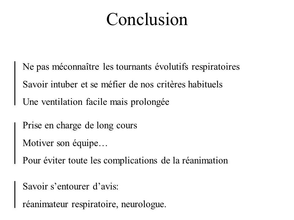 Conclusion Ne pas méconnaître les tournants évolutifs respiratoires