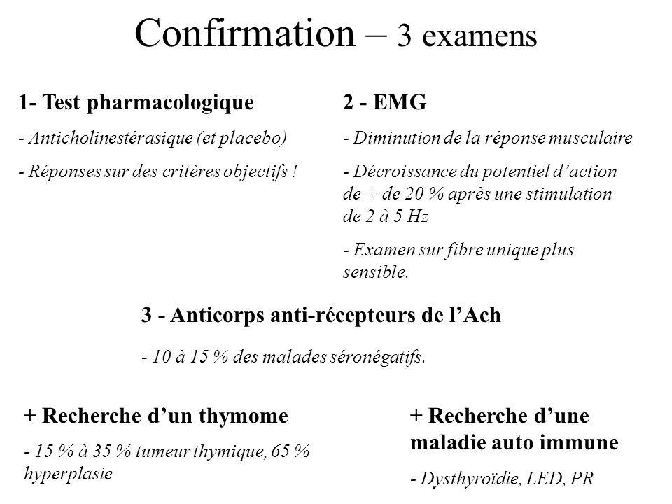 Confirmation – 3 examens