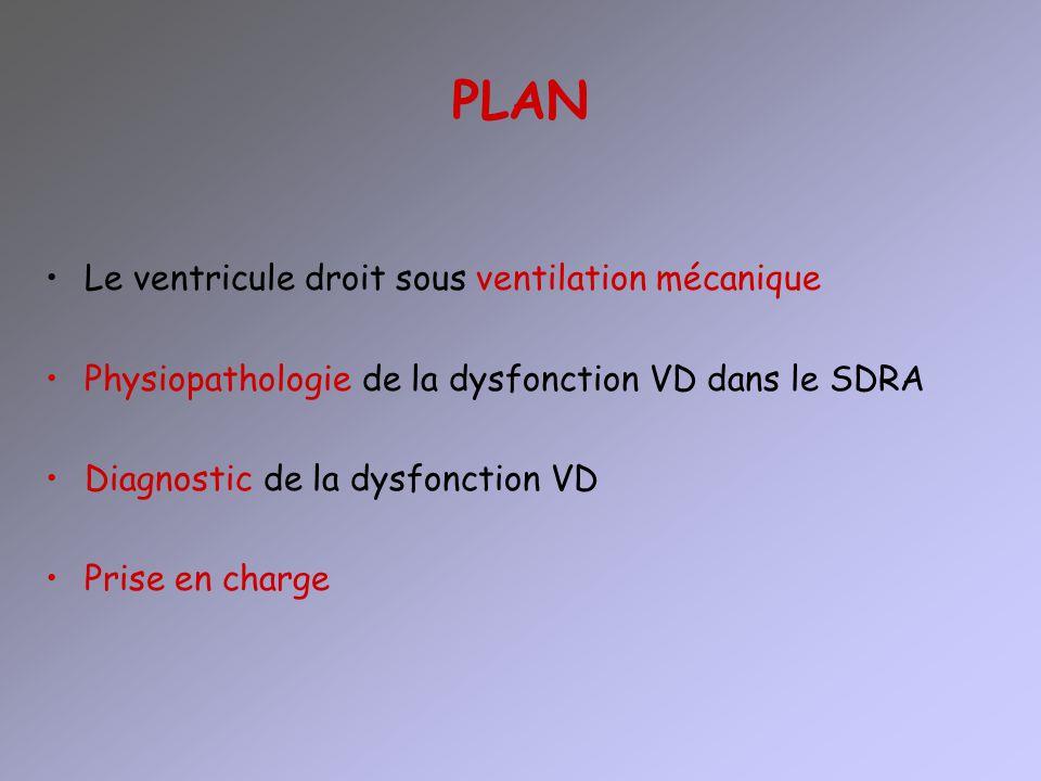 PLAN Le ventricule droit sous ventilation mécanique