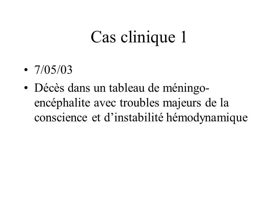 Cas clinique 1 7/05/03.