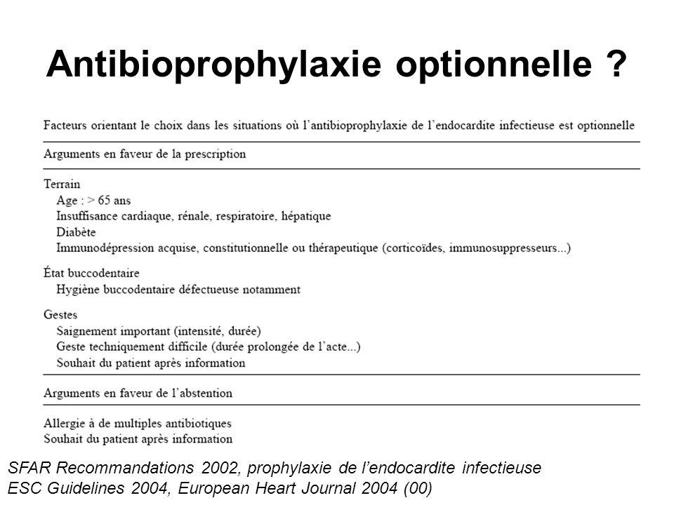Antibioprophylaxie optionnelle