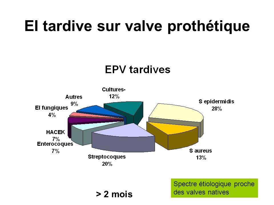 EI tardive sur valve prothétique