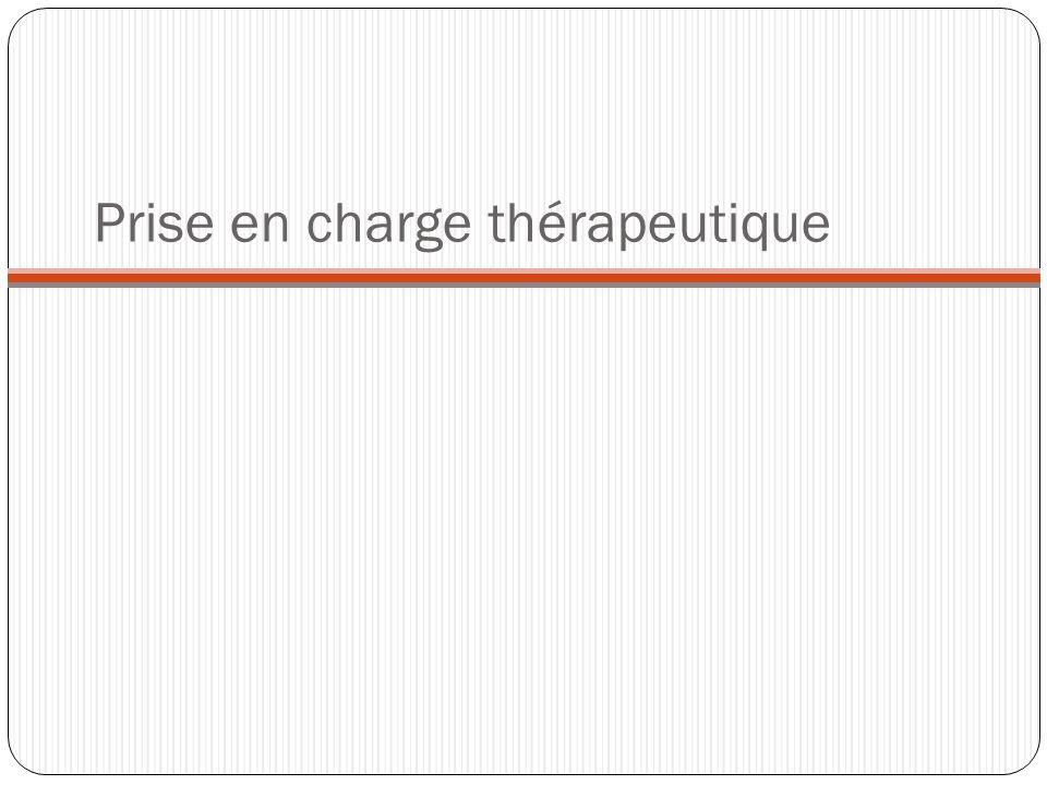 Prise en charge thérapeutique
