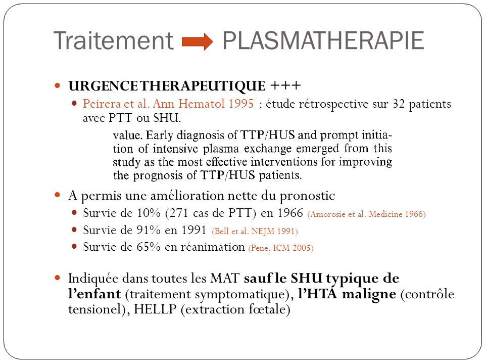 Traitement PLASMATHERAPIE