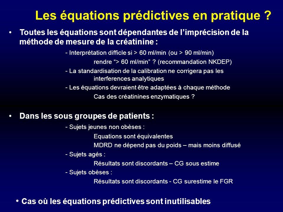 Les équations prédictives en pratique