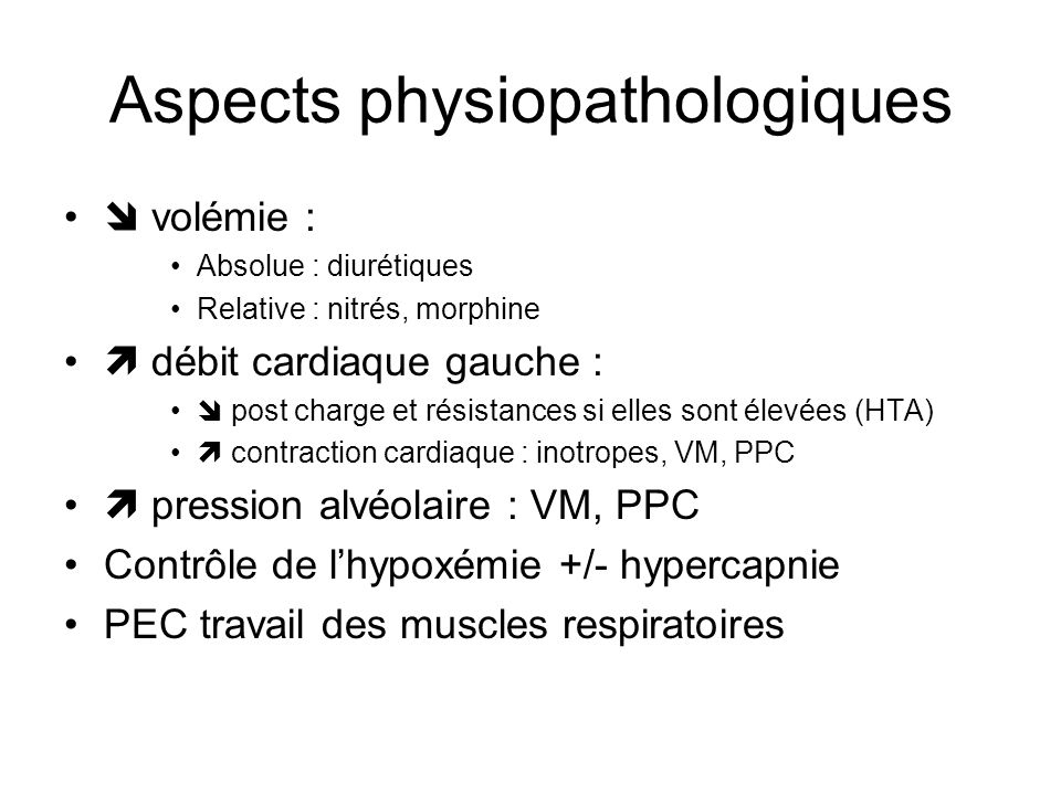 Aspects physiopathologiques