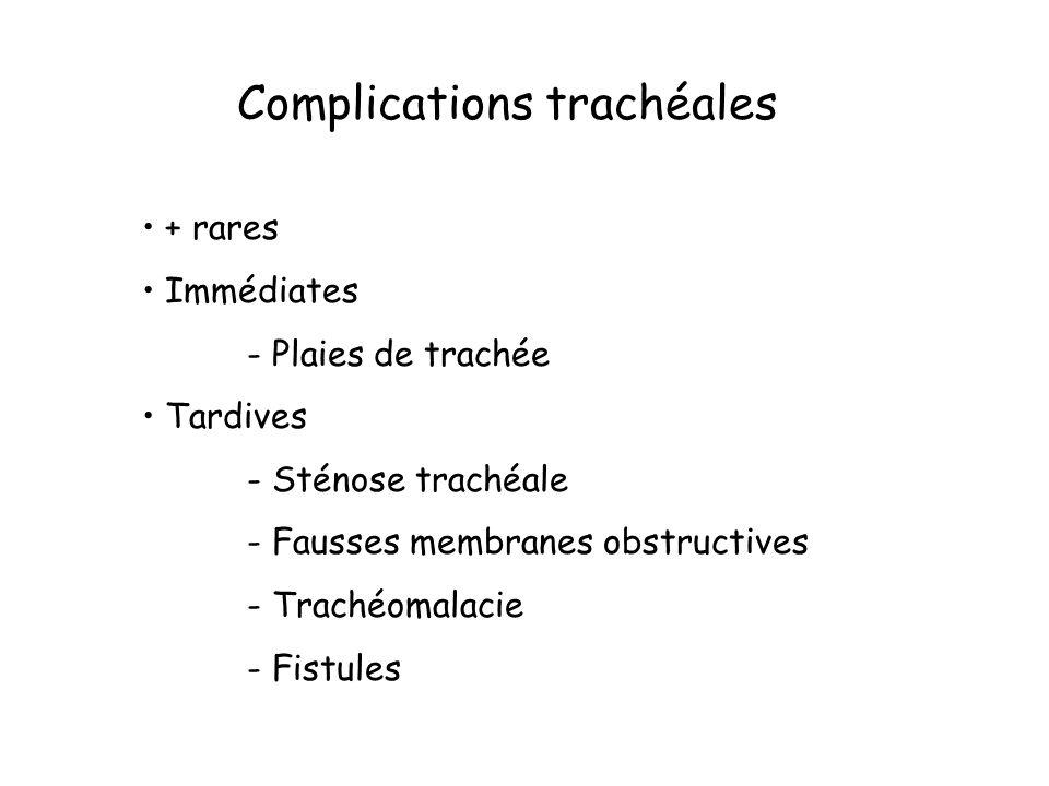 Complications trachéales
