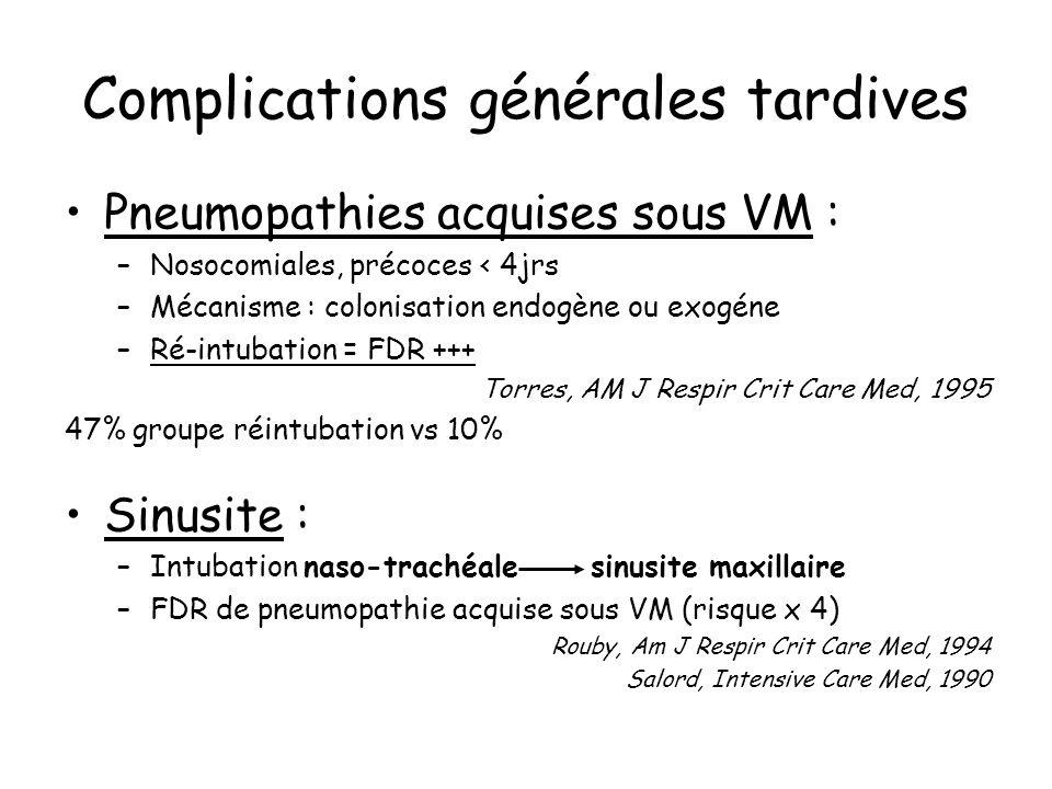 Complications générales tardives