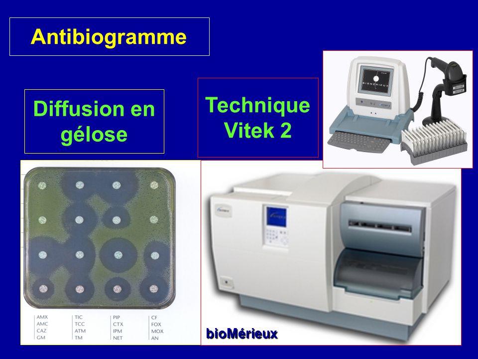 Antibiogramme Technique Vitek 2 Diffusion en gélose
