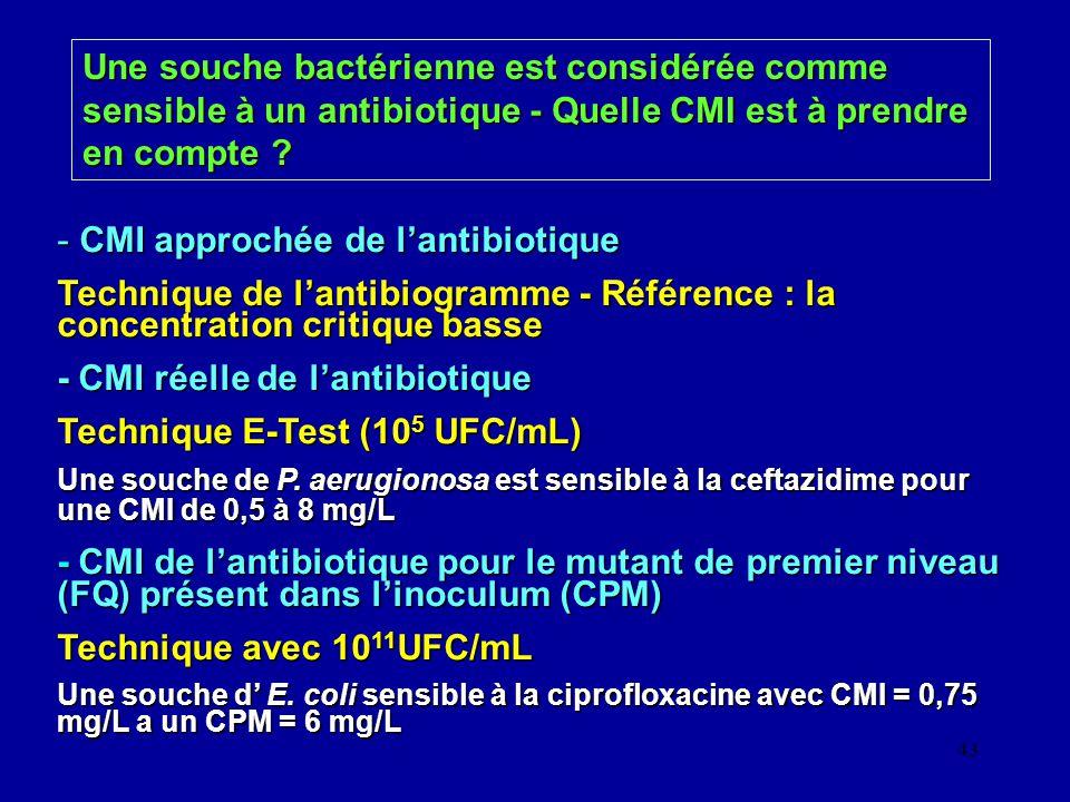 CMI approchée de l'antibiotique