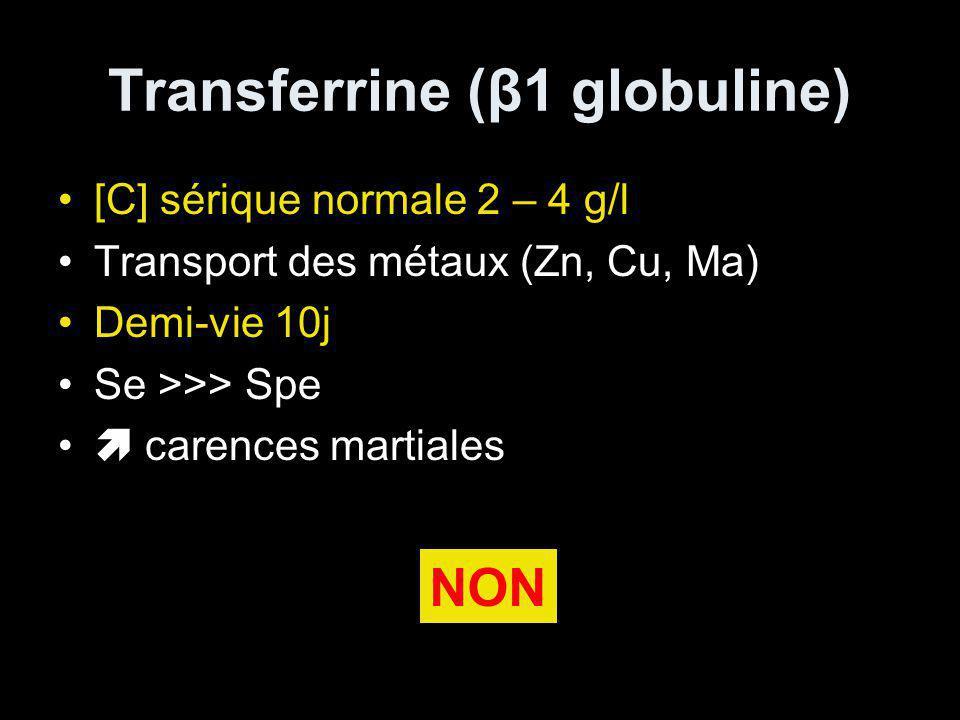 Transferrine (β1 globuline)