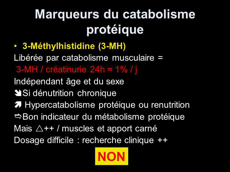Marqueurs du catabolisme protéique
