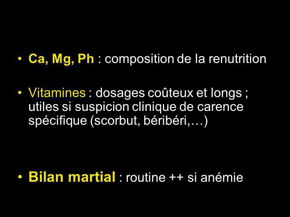 Bilan martial : routine ++ si anémie