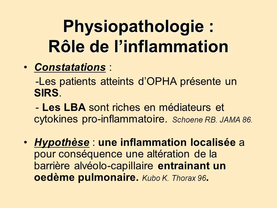 Physiopathologie : Rôle de l'inflammation