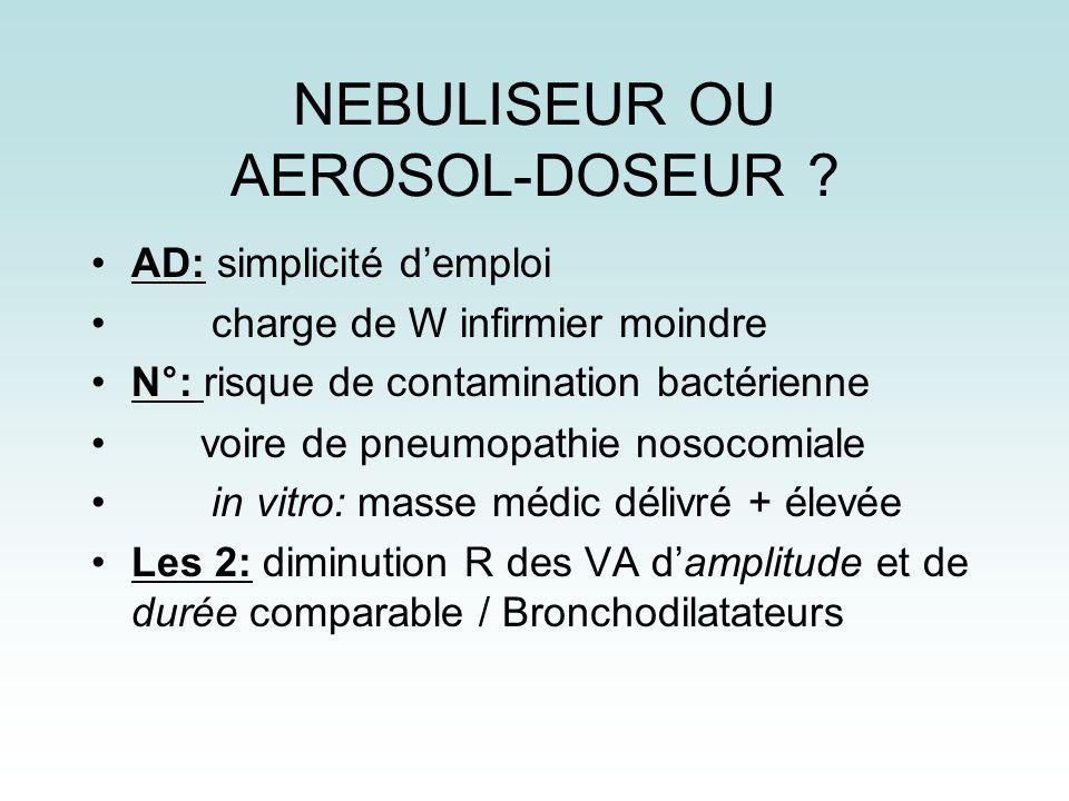 NEBULISEUR OU AEROSOL-DOSEUR
