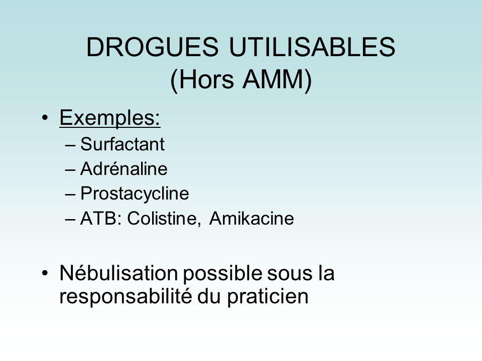 DROGUES UTILISABLES (Hors AMM)