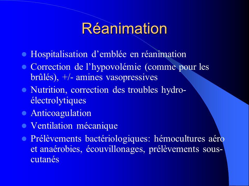 Réanimation Hospitalisation d'emblée en réanimation