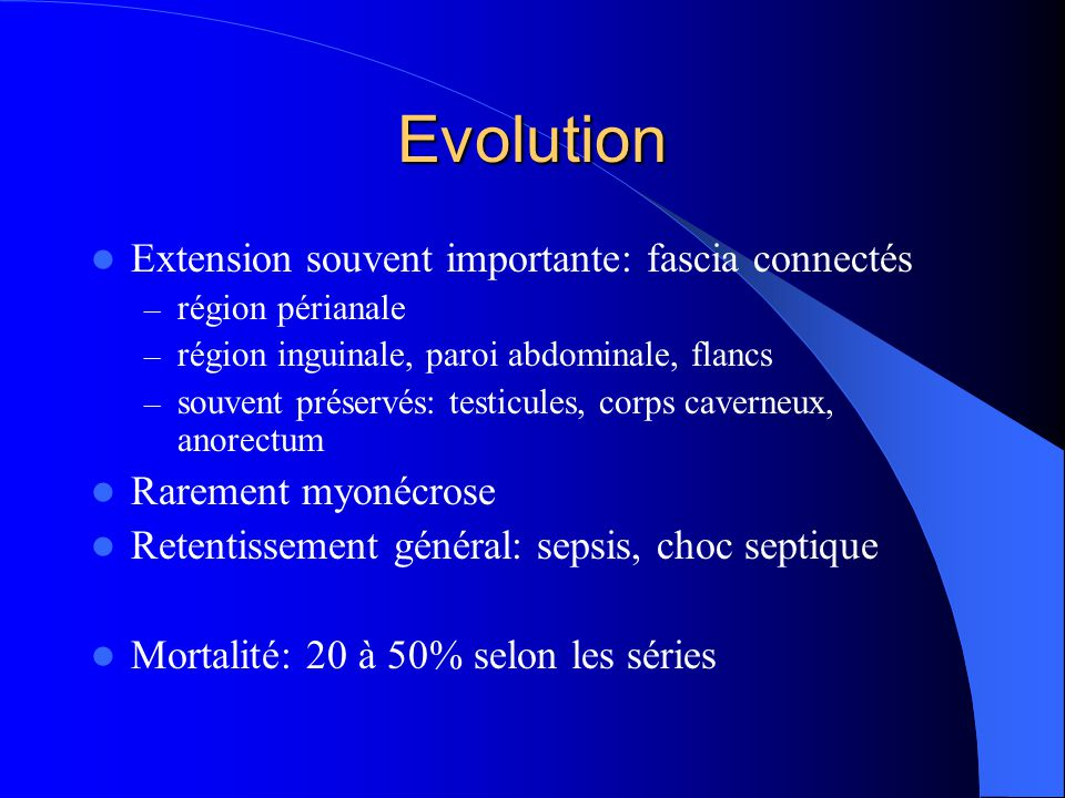 Evolution Extension souvent importante: fascia connectés
