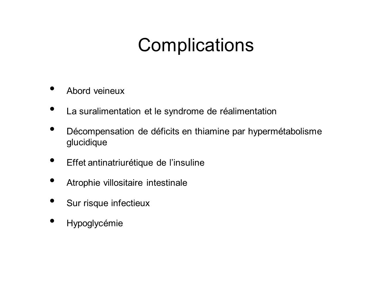 Complications Abord veineux