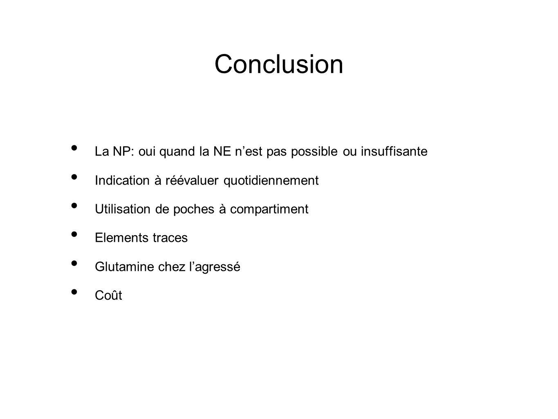 Conclusion La NP: oui quand la NE n'est pas possible ou insuffisante