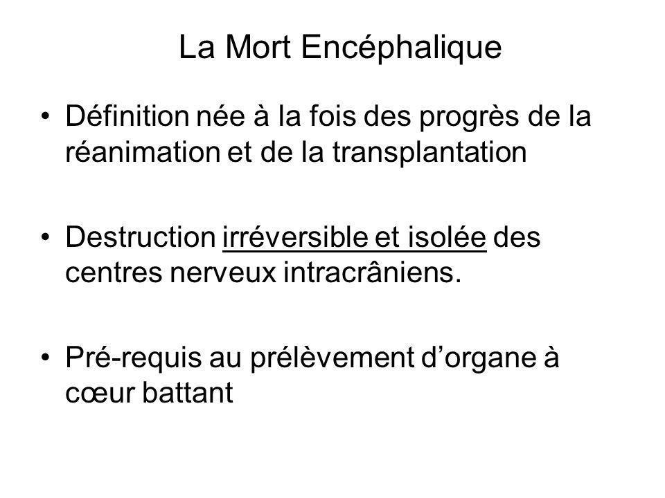 La Mort Encéphalique Définition née à la fois des progrès de la réanimation et de la transplantation.