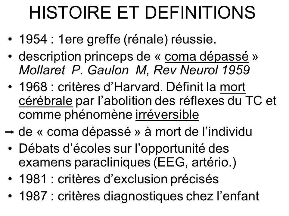 HISTOIRE ET DEFINITIONS