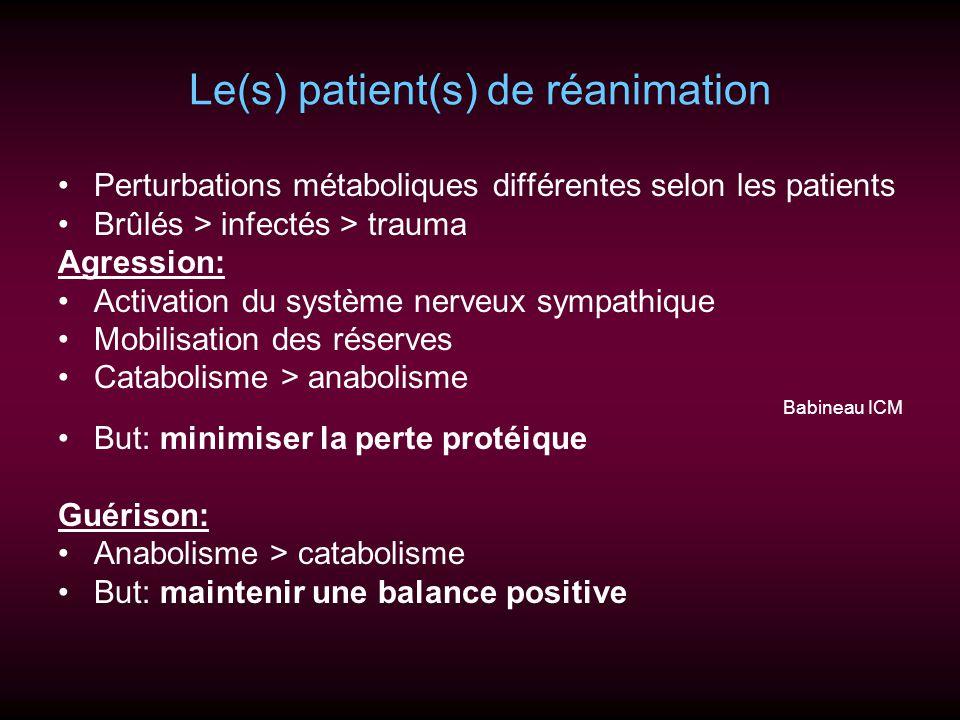 Le(s) patient(s) de réanimation