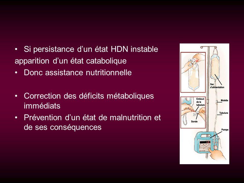 Si persistance d'un état HDN instable