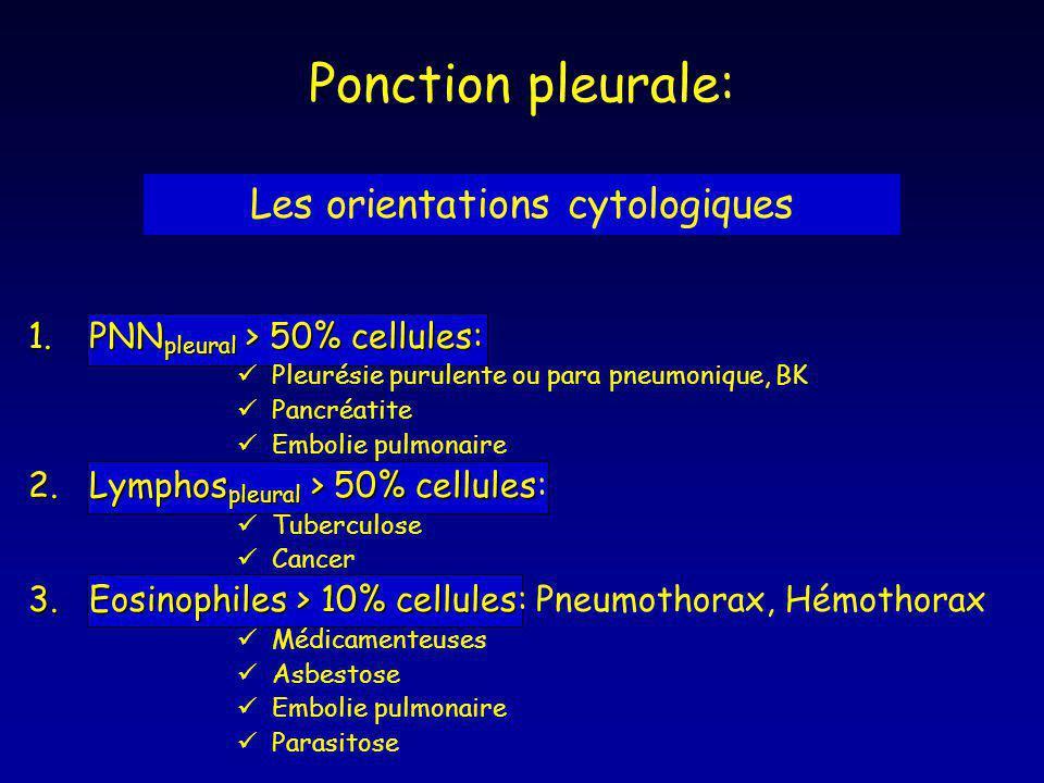Les orientations cytologiques