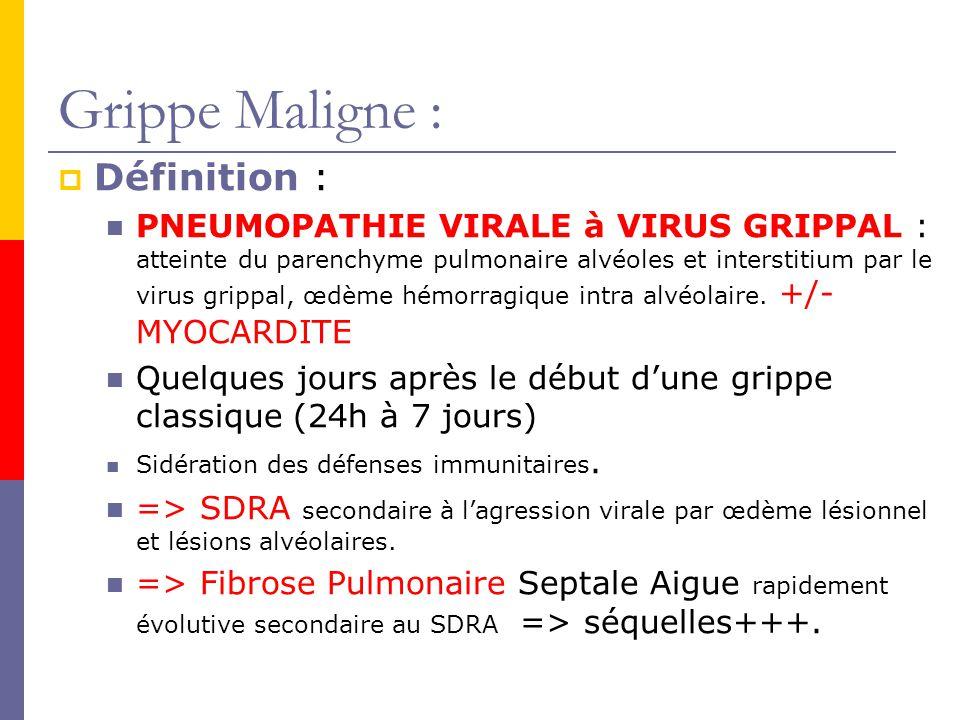 Grippe Maligne : Définition :