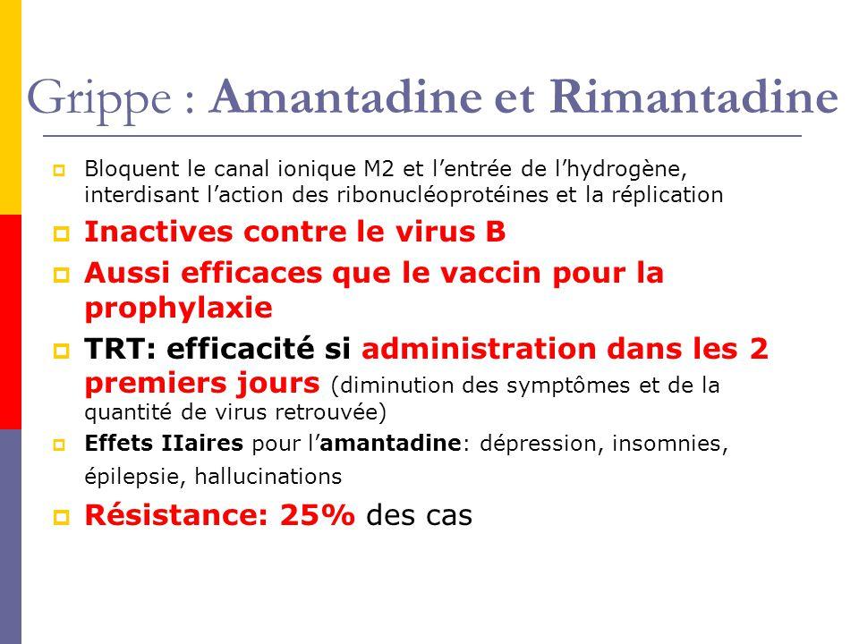 Grippe : Amantadine et Rimantadine