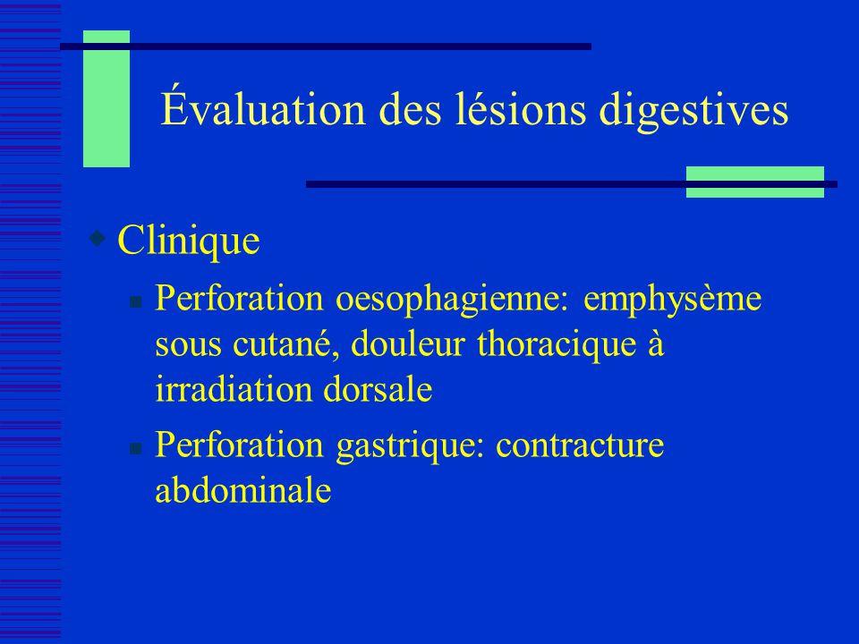 Évaluation des lésions digestives