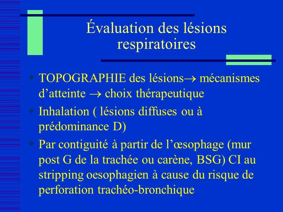 Évaluation des lésions respiratoires