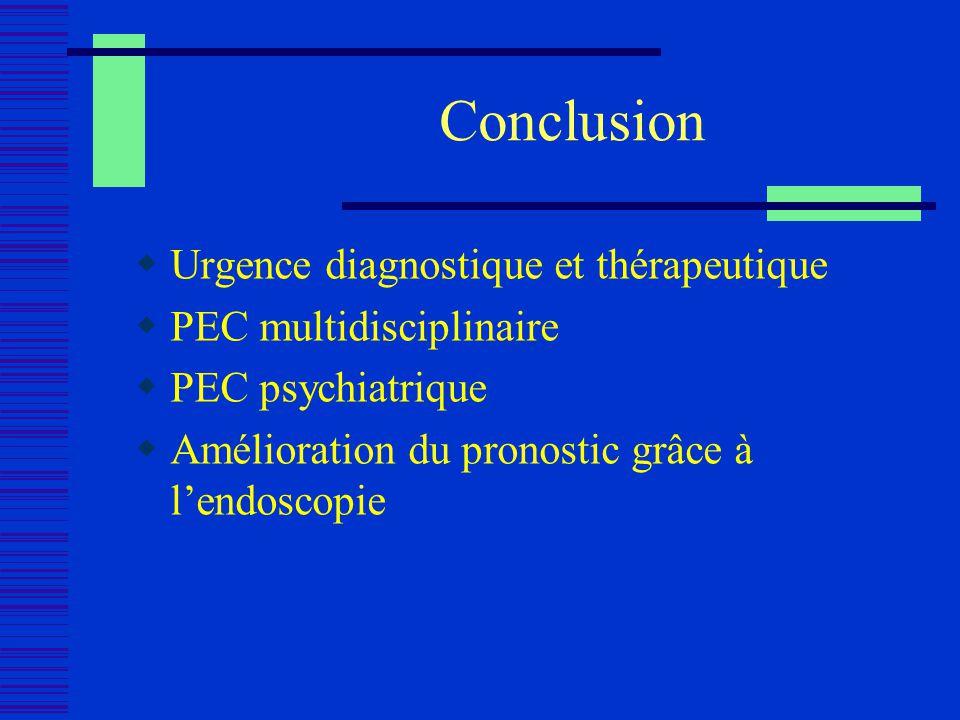Conclusion Urgence diagnostique et thérapeutique
