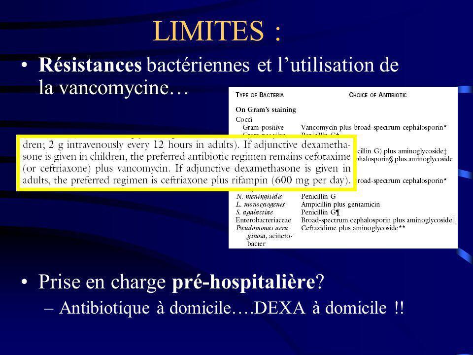 LIMITES : Résistances bactériennes et l'utilisation de la vancomycine…
