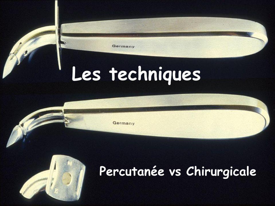 Percutanée vs Chirurgicale