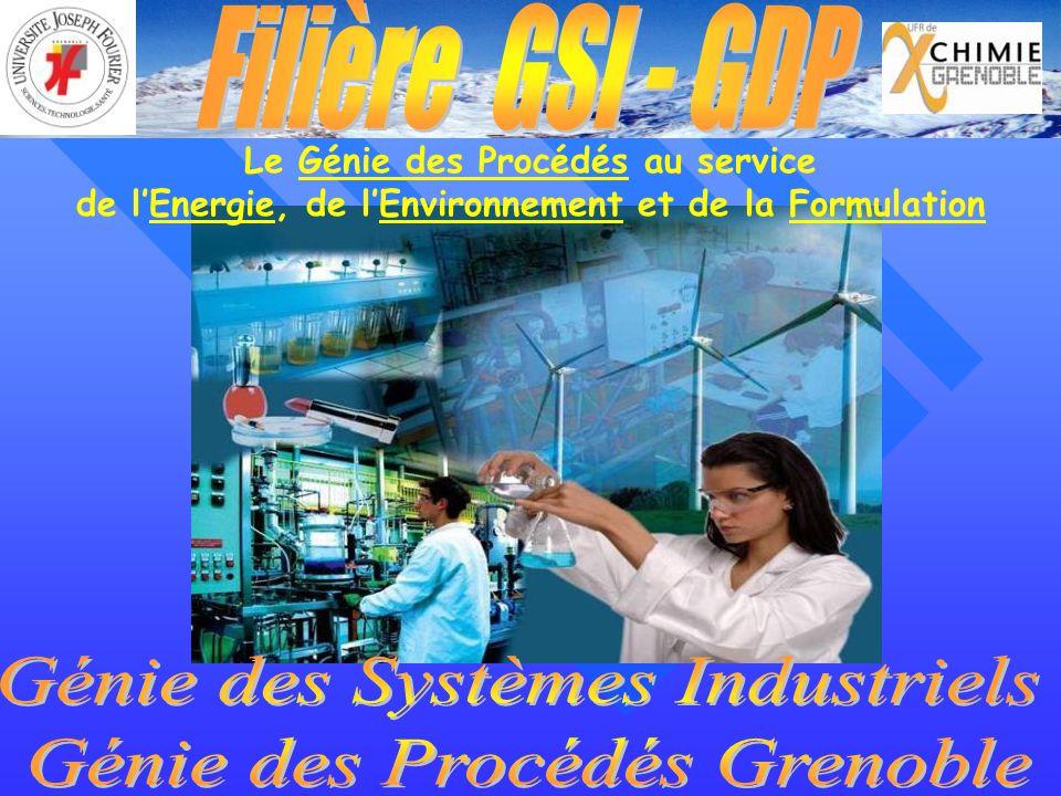 Génie des Systèmes Industriels Génie des Procédés Grenoble